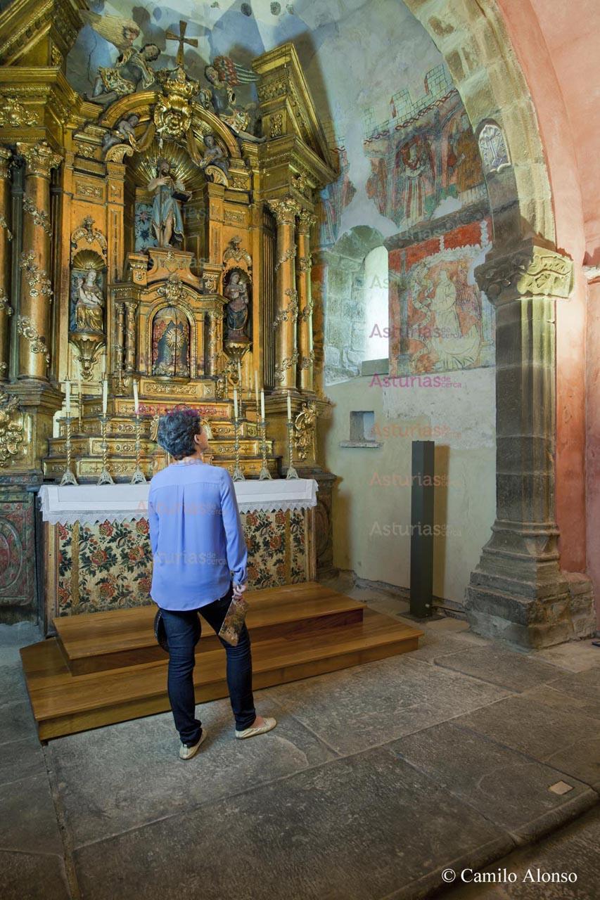 Interior de la iglesia de San Juan de Riomera. Santibáñez de La Fuente.