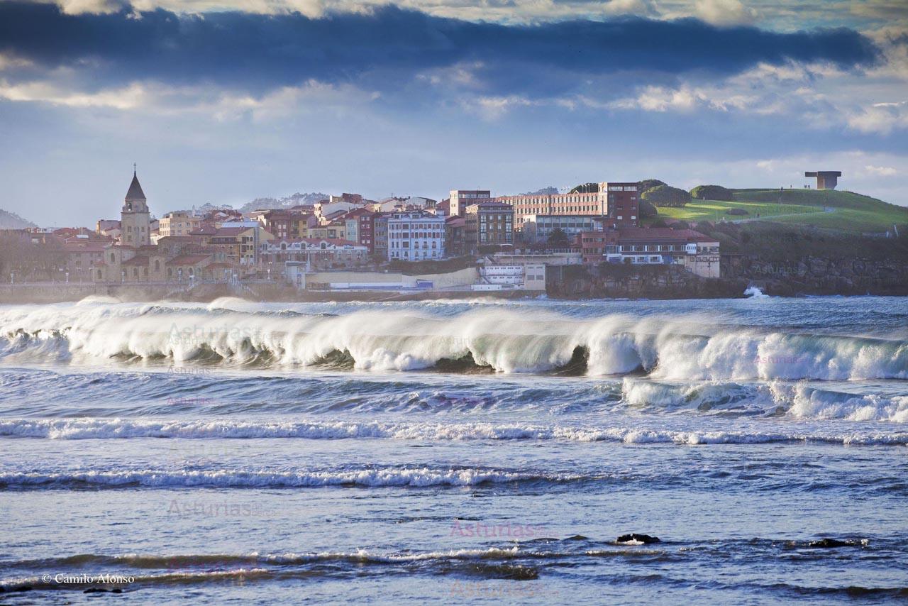 Gijón, Paseo del Muro.